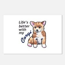 BETTER WITH A CORGI Postcards (Package of 8)