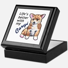 BETTER WITH A CORGI Keepsake Box