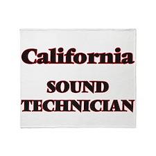 California Sound Technician Throw Blanket