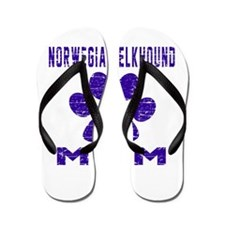 Norwegian Elkhound mom designs Flip Flops