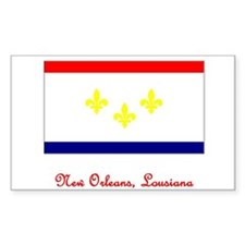 New Orleans LA Flag Rectangle Decal