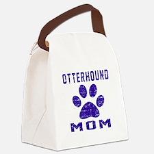 Otterhound mom designs Canvas Lunch Bag