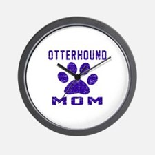 Otterhound mom designs Wall Clock