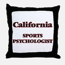 California Sports Psychologist Throw Pillow