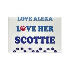 Love Alexa Love Her Scottie Rectangle Magnet