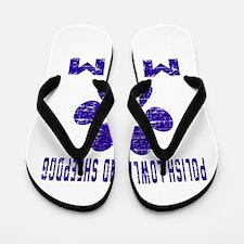 Polish Lowland Sheepdog mom designs Flip Flops