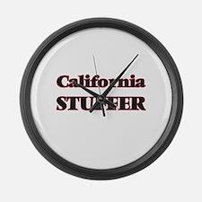 California Stuffer Large Wall Clock