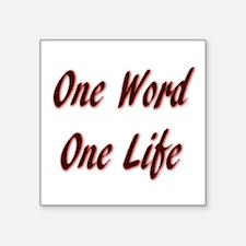One Word Sticker