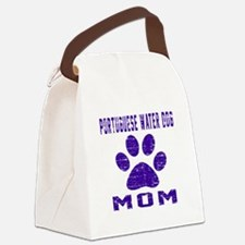 Portuguese Water Dog mom designs Canvas Lunch Bag