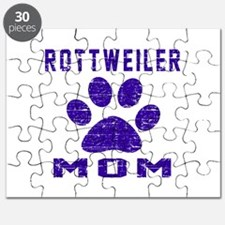 Rottweiler mom designs Puzzle
