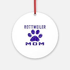 Rottweiler mom designs Round Ornament