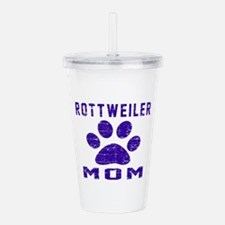 Rottweiler mom designs Acrylic Double-wall Tumbler