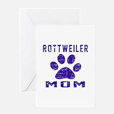 Rottweiler mom designs Greeting Card