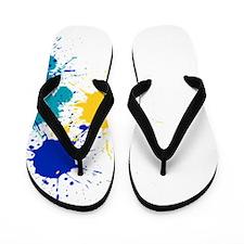 Paintball Splatter Flip Flops