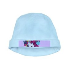 afro floral baby hat