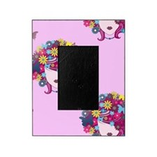 afro floral Picture Frame