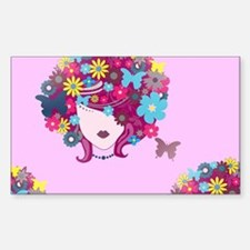 afro floral Decal