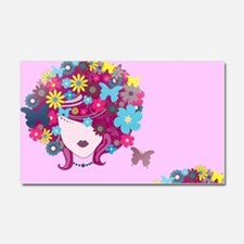 afro floral Car Magnet 20 x 12