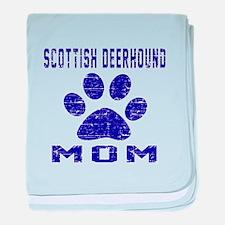 Scottish Deerhound mom designs baby blanket