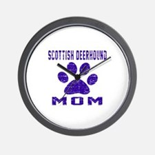 Scottish Deerhound mom designs Wall Clock