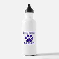 Scottish Deerhound mom Water Bottle