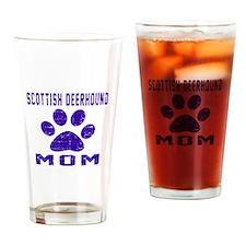 Scottish Deerhound mom designs Drinking Glass