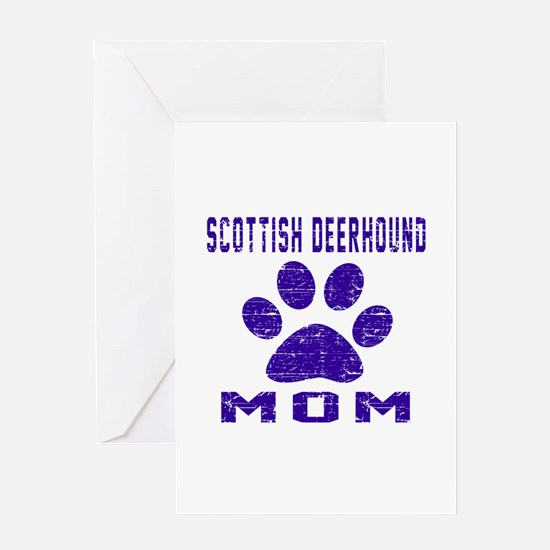 Scottish Deerhound mom designs Greeting Card