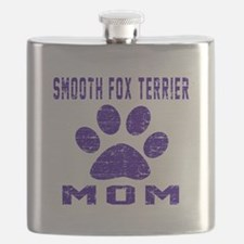 Smooth Fox Terrier mom designs Flask