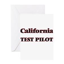 California Test Pilot Greeting Cards
