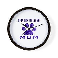 Spinone Italiano mom designs Wall Clock