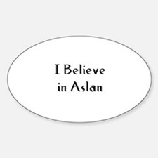 I Believe in Aslan Oval Decal