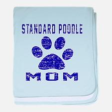 Standard Poodle mom designs baby blanket
