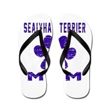 Sealyham Terrier mom designs Flip Flops