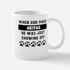 When God Made Akitas Mugs