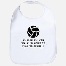 Volleyball As Soon As I Can Walk Bib