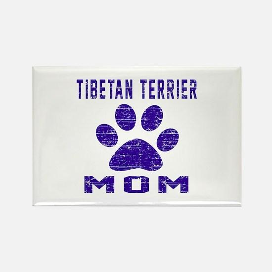 Tibetan Terrier mom designs Rectangle Magnet