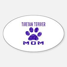 Tibetan Terrier mom designs Sticker (Oval)