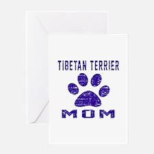 Tibetan Terrier mom designs Greeting Card