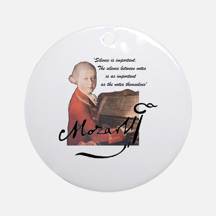 Cute Mozart Round Ornament