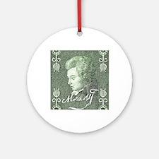 Funny Mozart Round Ornament