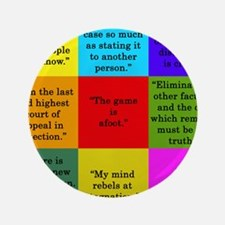 Sherlock Holmes Quotes Button