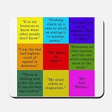 Sherlock Holmes Quotes Mousepad