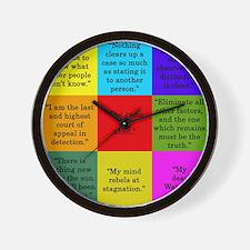 Sherlock Holmes Quotes Wall Clock