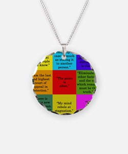 Sherlock Holmes Quotes Necklace