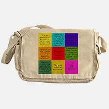 Sherlock Holmes Quotes Messenger Bag