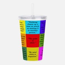 Sherlock Holmes Quotes Acrylic Double-wall Tumbler