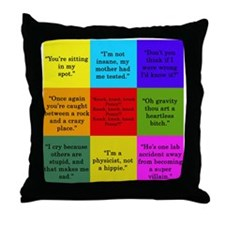 Big Bang Quotes Throw Pillow
