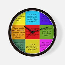 Big Bang Quotes Wall Clock