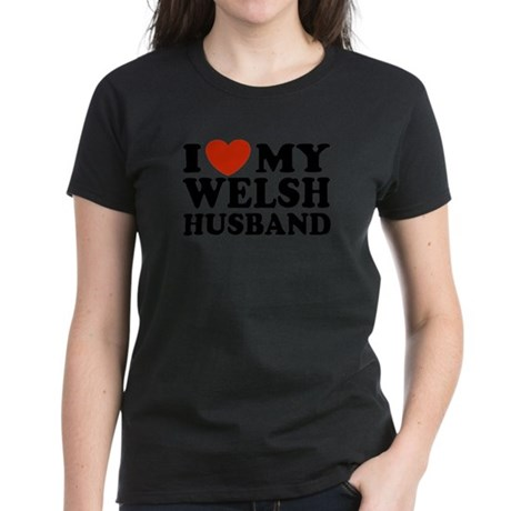 I Love My Welsh Husband Women's Dark T-Shirt