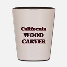 California Wood Carver Shot Glass
